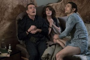 (l-r) Bryan Cranston as Ned, Megan Mullally as Barb, and James Franco as Laird in WHY HIM? ©20th Century Fox. CR: Scott Garfield.