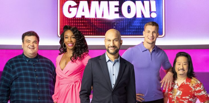 Tennis Champ Venus Williams Takes a Swing At Football Player Rob Gronkowski on 'Game On!' Game Show